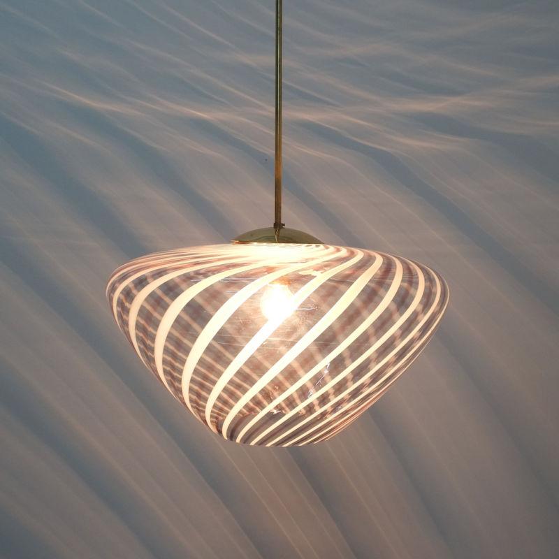 Murano Pendant Swirl Glass 11