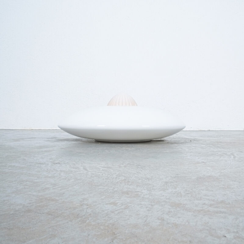 Murano White Rose Glass Flush Mount 02