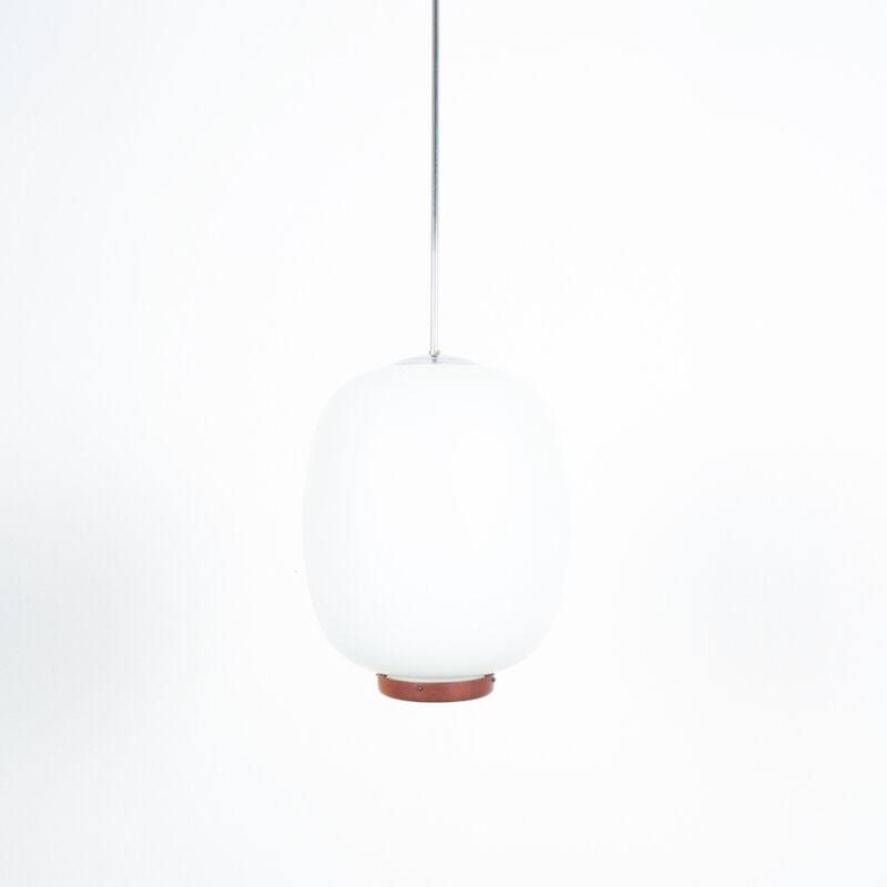 Opal Glass Pendant Wood 01