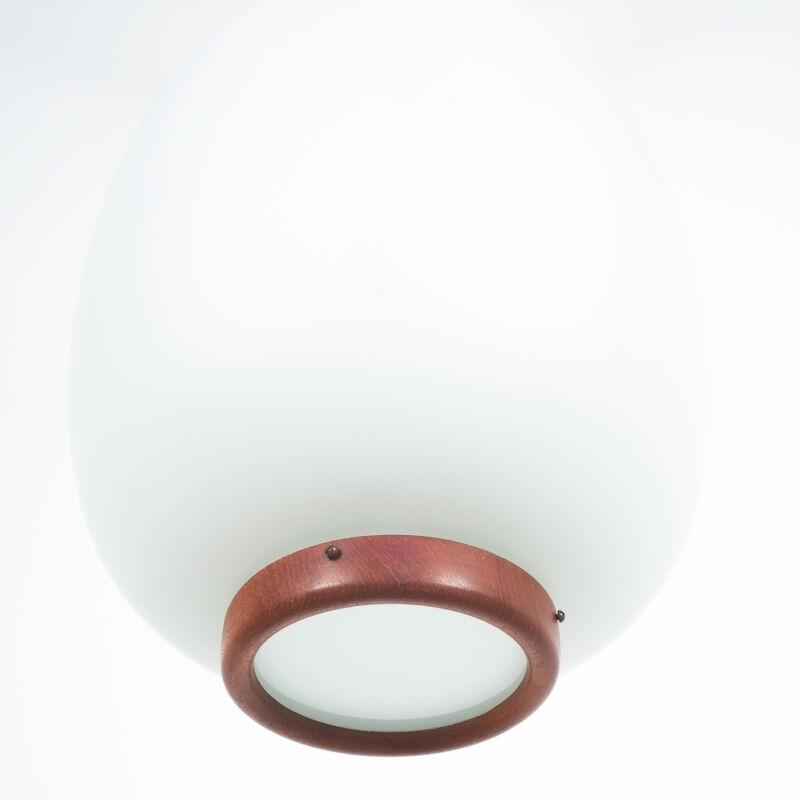 Opal Glass Pendant Wood 04