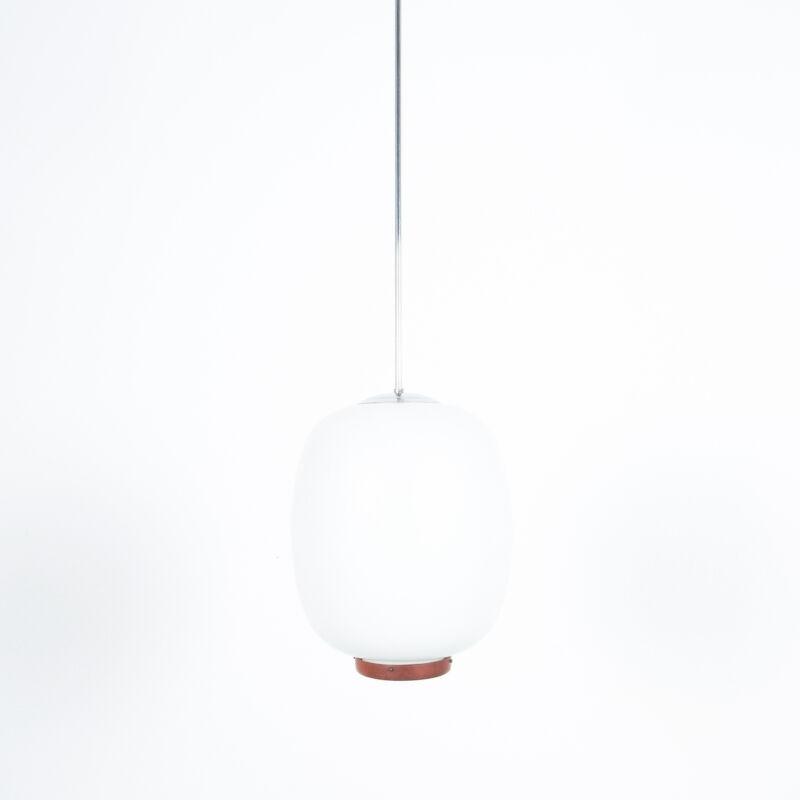 Opal Glass Pendant Wood 05