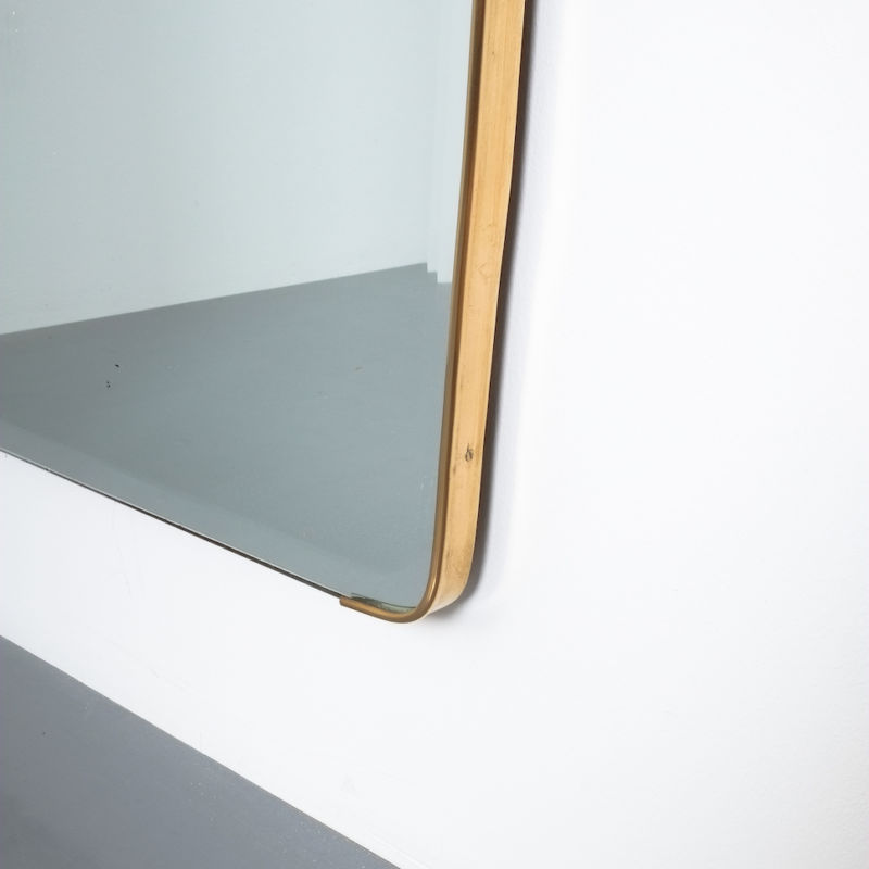 Organic Large Brass Mirror 02