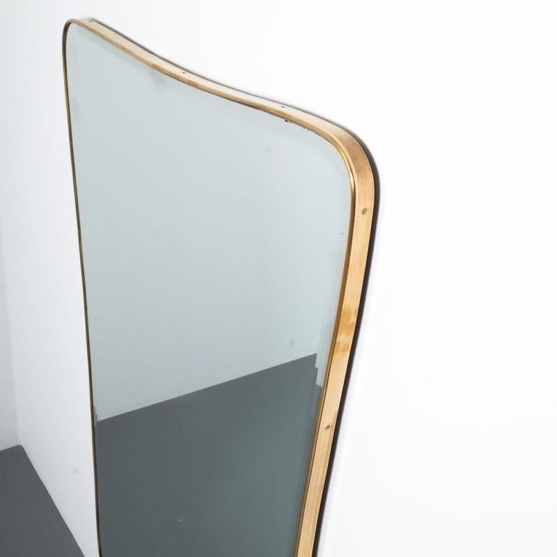 Organic Large Brass Mirror 03
