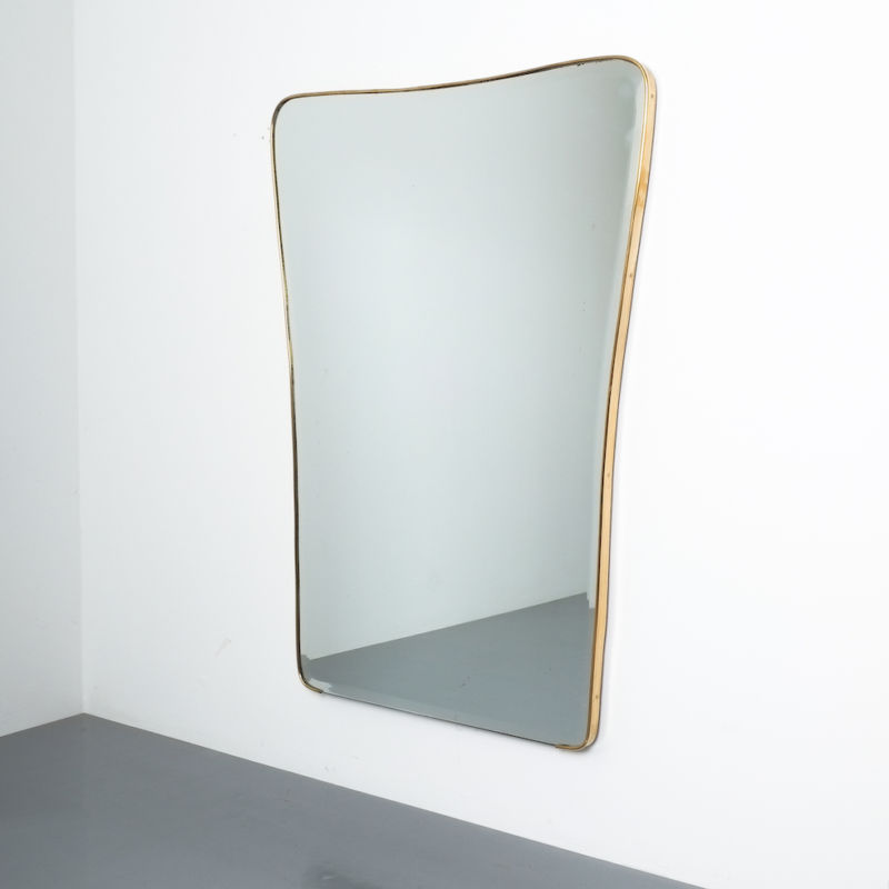 Organic Large Brass Mirror 04