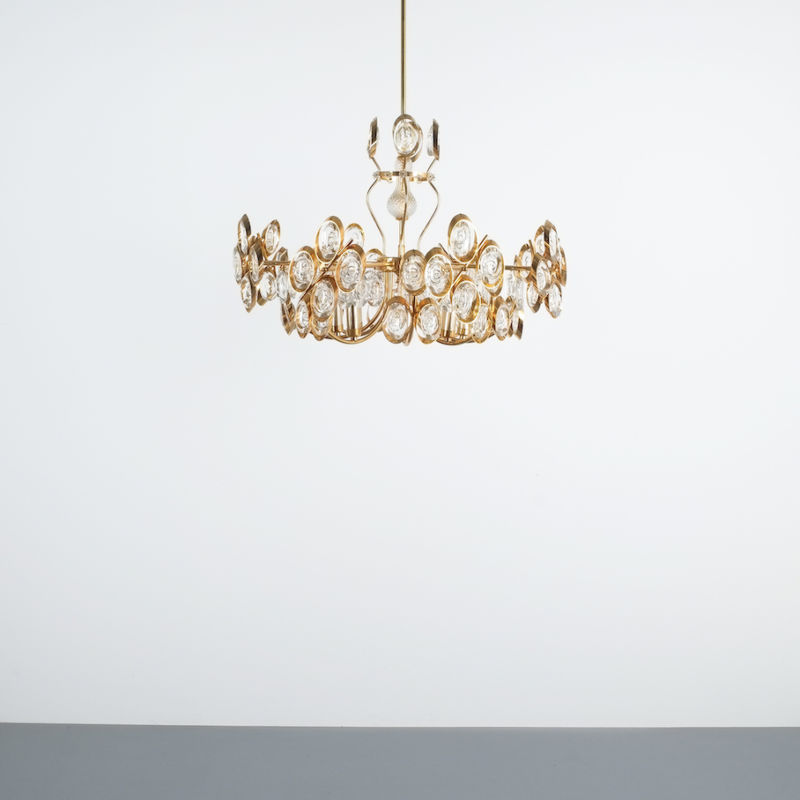 Oval Crystal Palwa Chandelier 01
