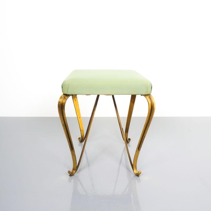 pair 1950 stools brass italy 5 Kopie