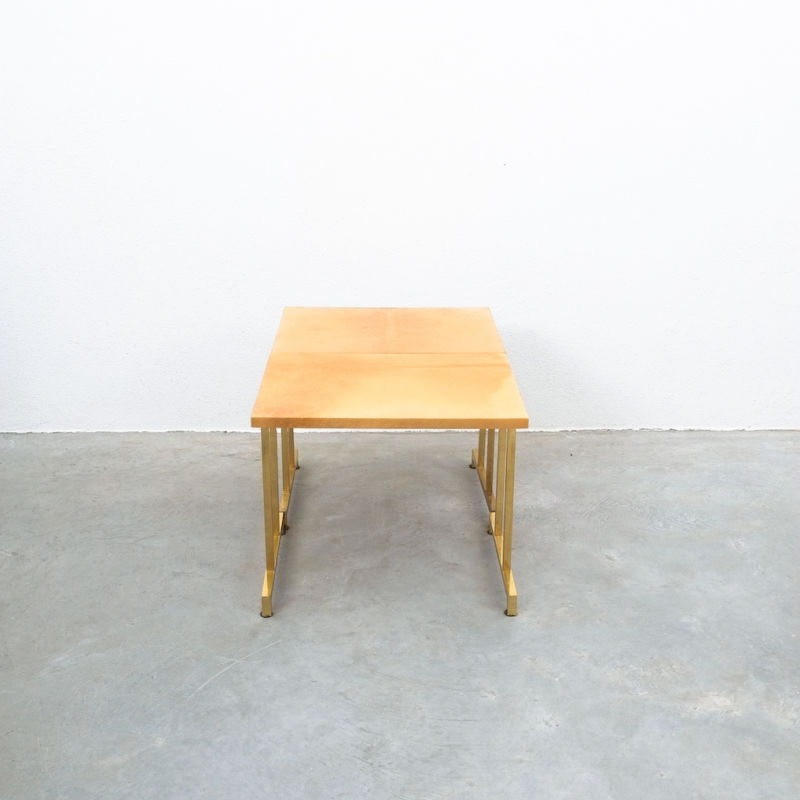 Pair Aldo Tura Parchment Tan Tables 04