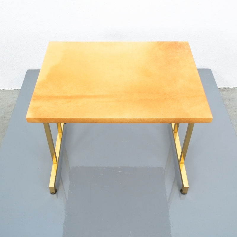 Pair Aldo Tura Parchment Tan Tables 08