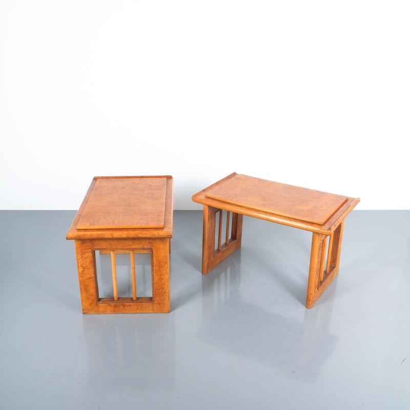 pair art deco nightstands side tables_06