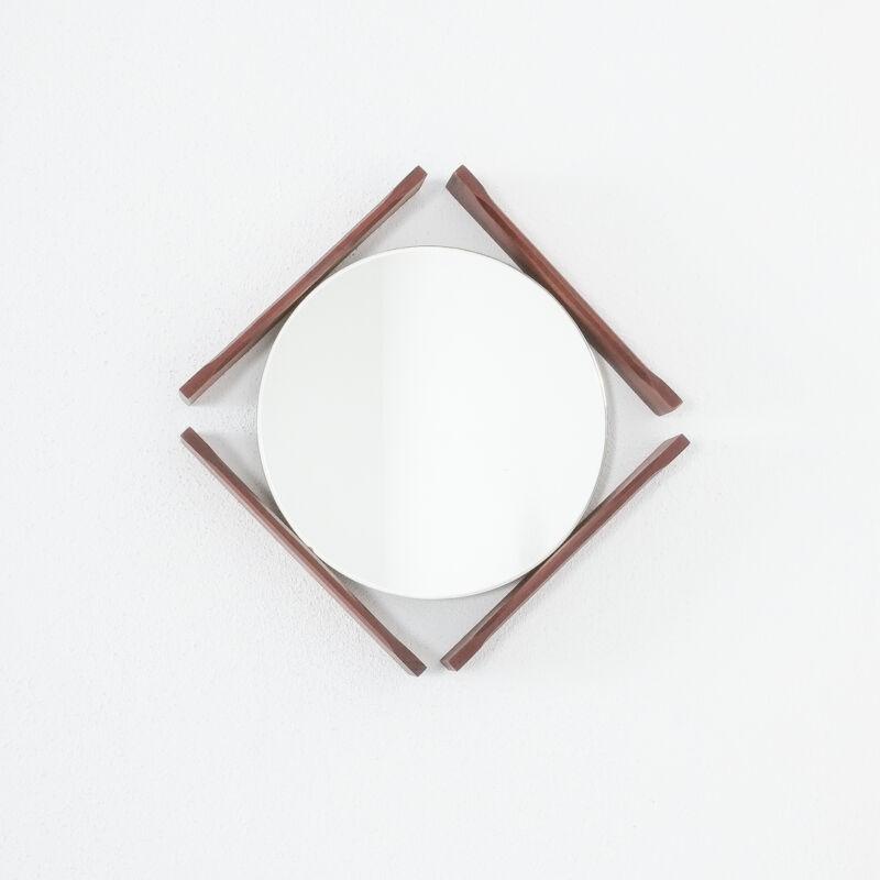 Pair Danish Wood Mirrors 03