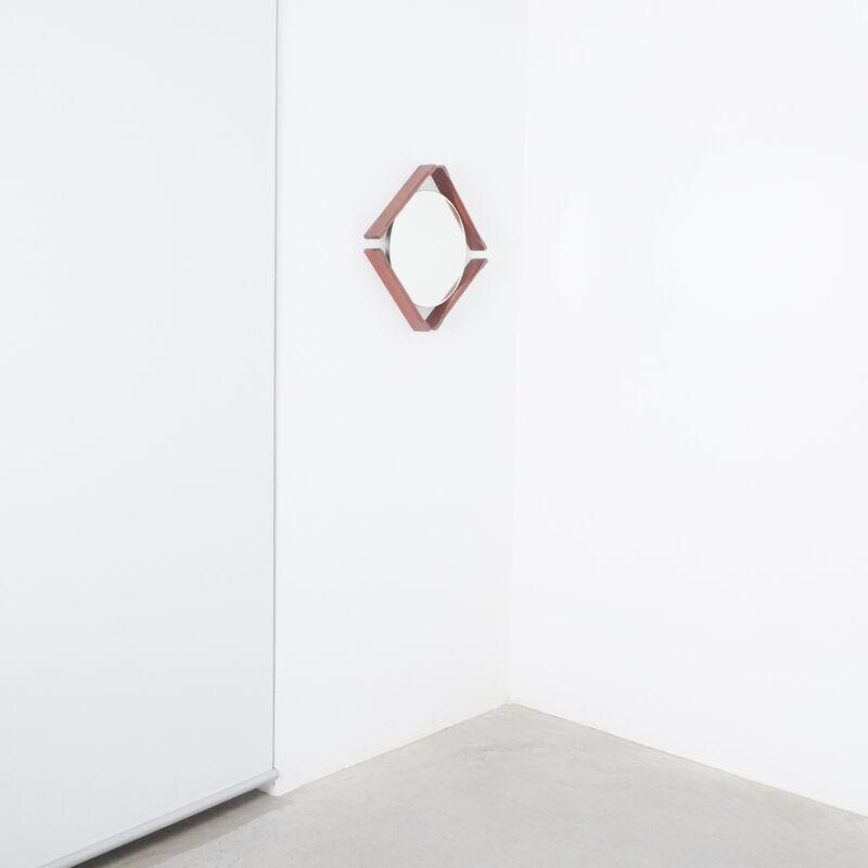 Pair Danish Wood Mirrors 04