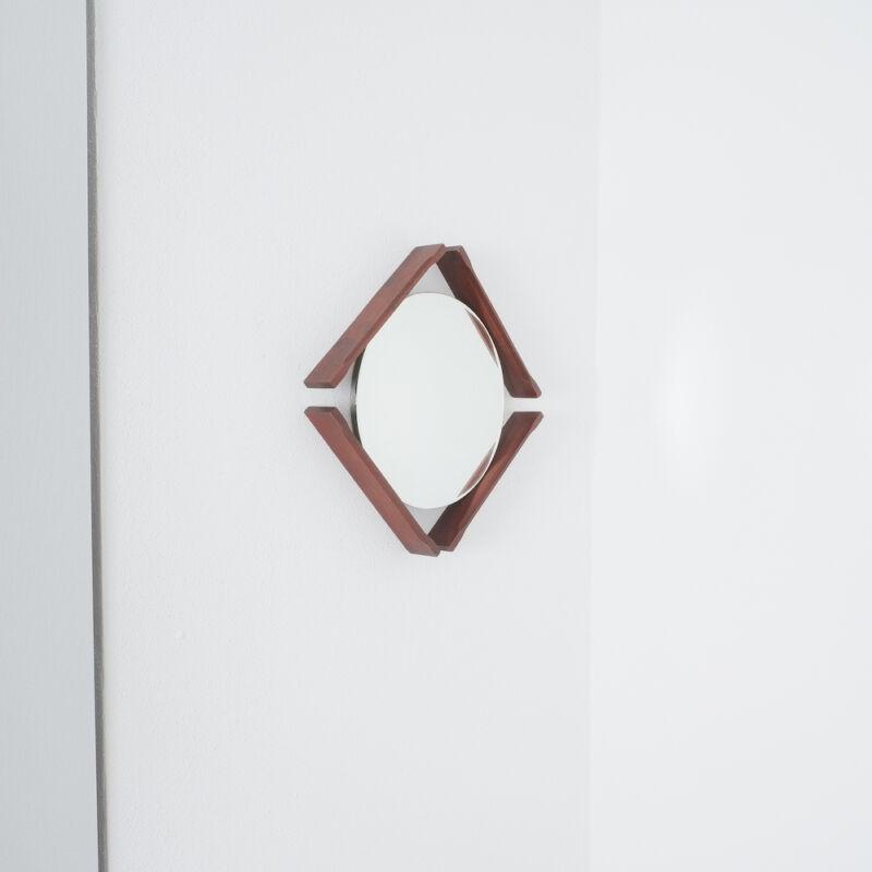 Pair Danish Wood Mirrors 05