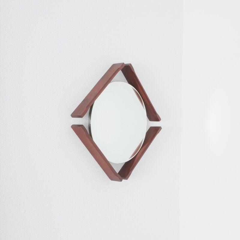 Pair Danish Wood Mirrors 06