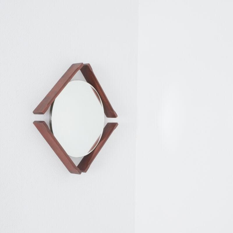 Pair Danish Wood Mirrors 08