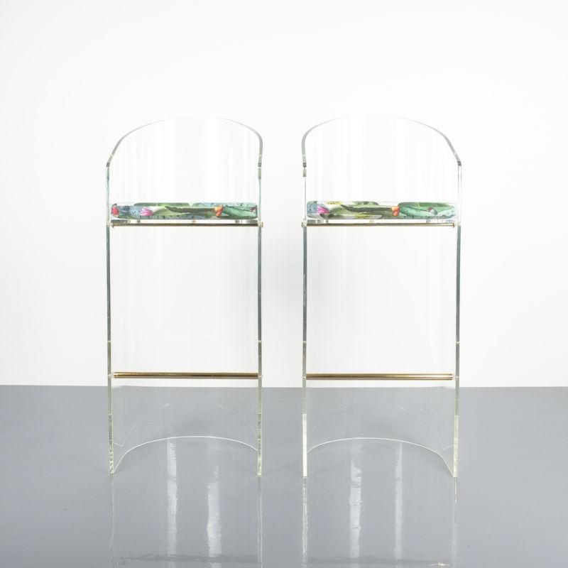 pair lucite bar stools 1970 01 Kopie