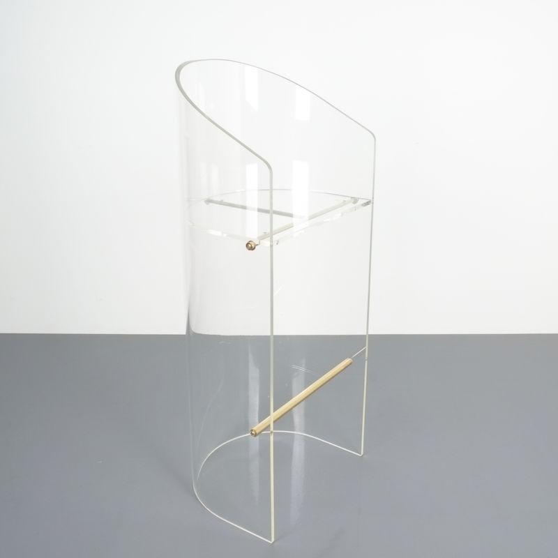 pair lucite bar stools 1970 05 Kopie