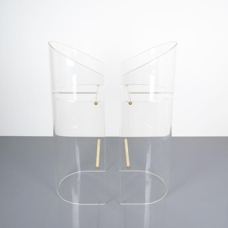 pair lucite bar stools 1970 07 Kopie