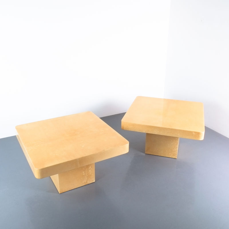 Pair Parchment Tura Coffee Tables 02