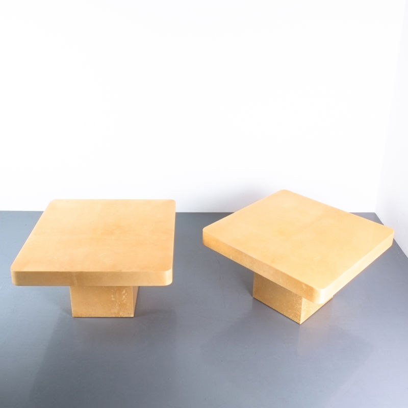 Pair Parchment Tura Coffee Tables 03