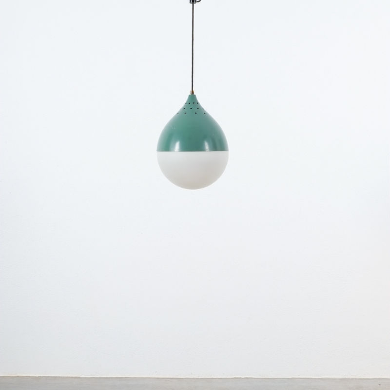 Pair Stilnovo Glass Ball Pendant 01
