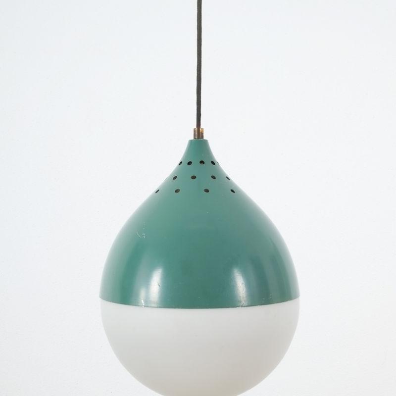 Pair Stilnovo Glass Ball Pendant 02