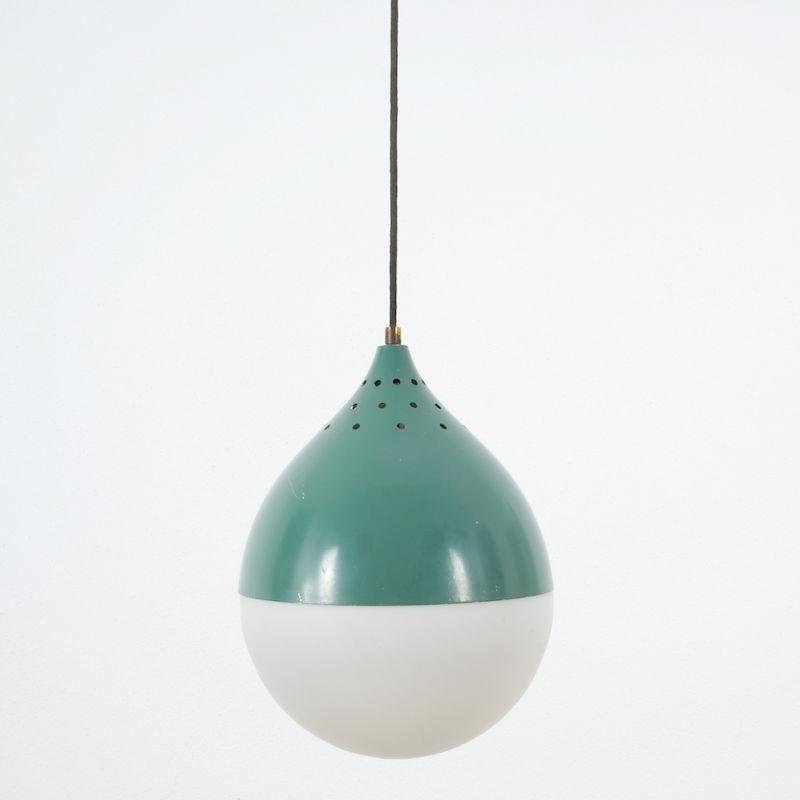 Pair Stilnovo Glass Ball Pendant 03