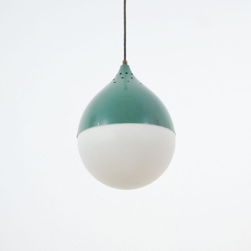 Pair Stilnovo Glass Ball Pendant 04