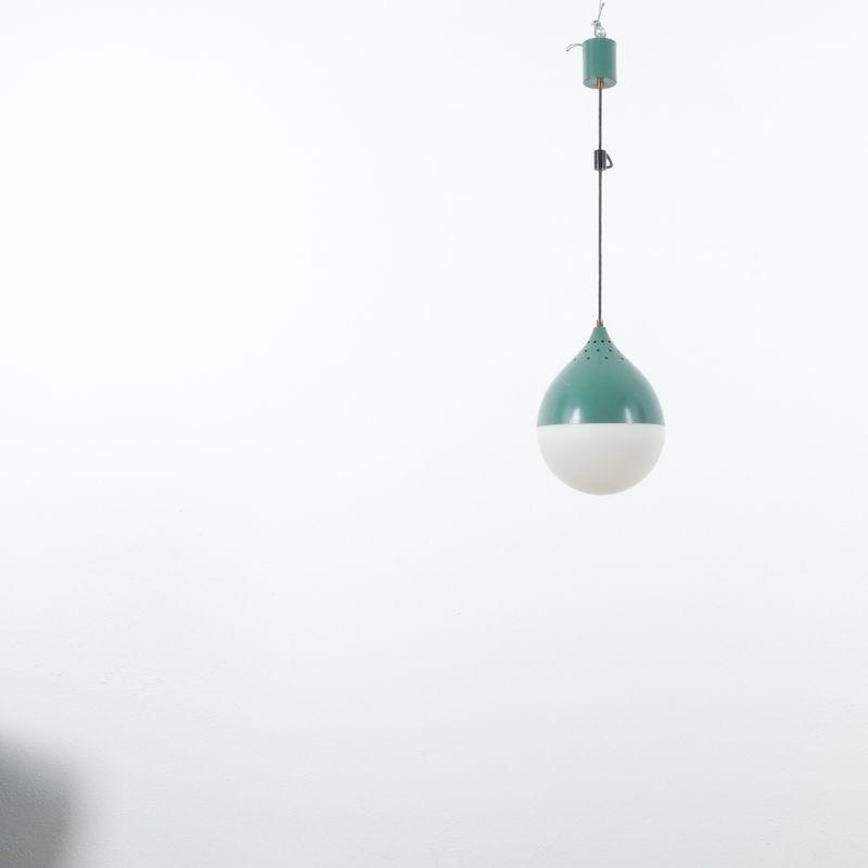 Pair Stilnovo Glass Ball Pendant 05