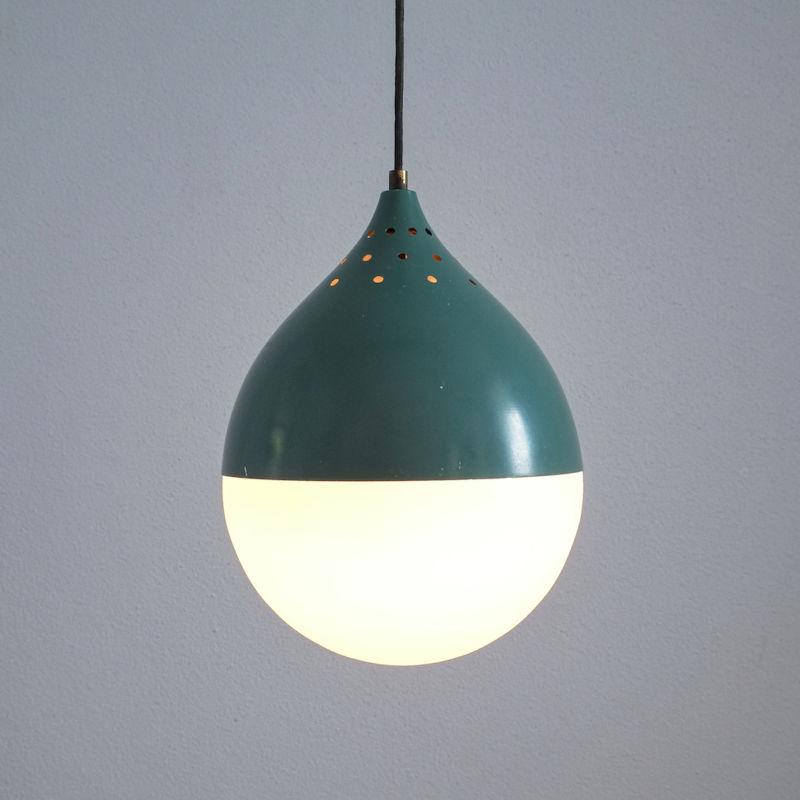 Pair Stilnovo Glass Ball Pendant 06