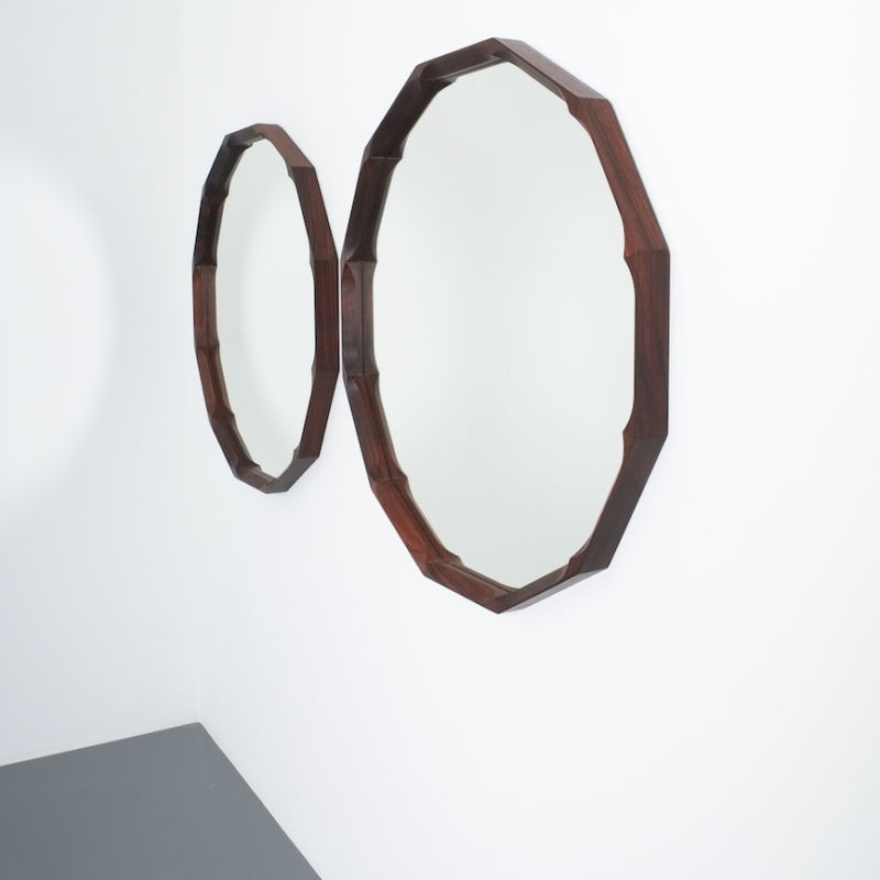 Pair Walnut Mirrors Dino Cavalli 01