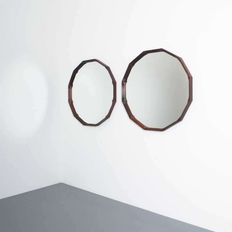Pair Walnut Mirrors Dino Cavalli 02