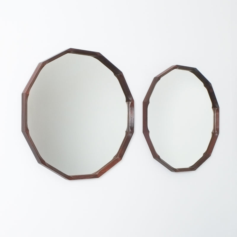Pair Walnut Mirrors Dino Cavalli 03
