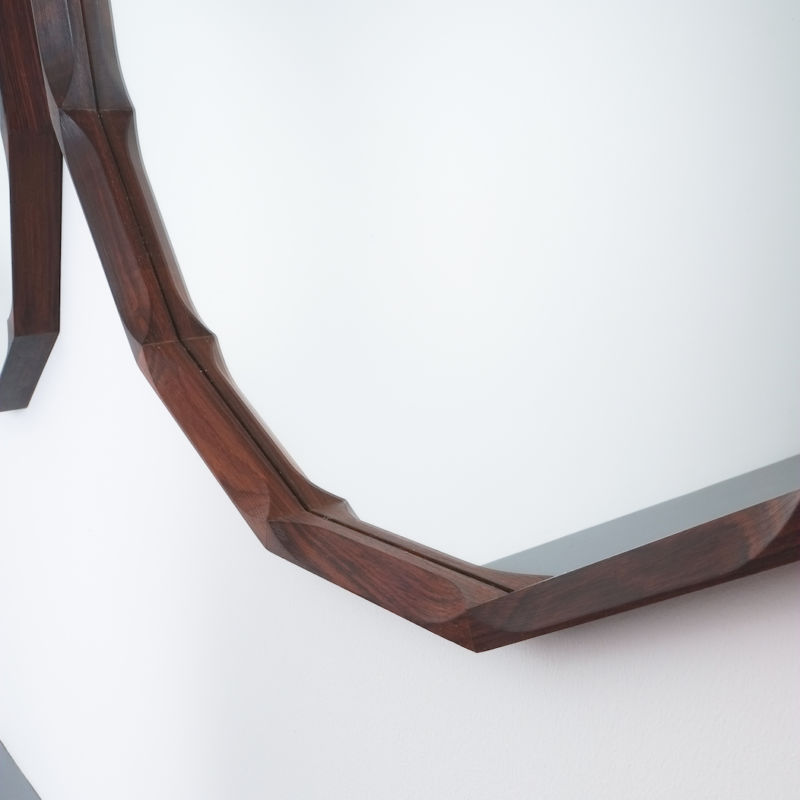 Pair Walnut Mirrors Dino Cavalli 05