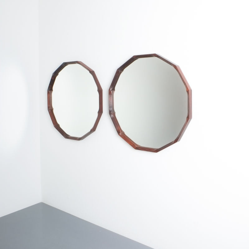 Pair Walnut Mirrors Dino Cavalli 06