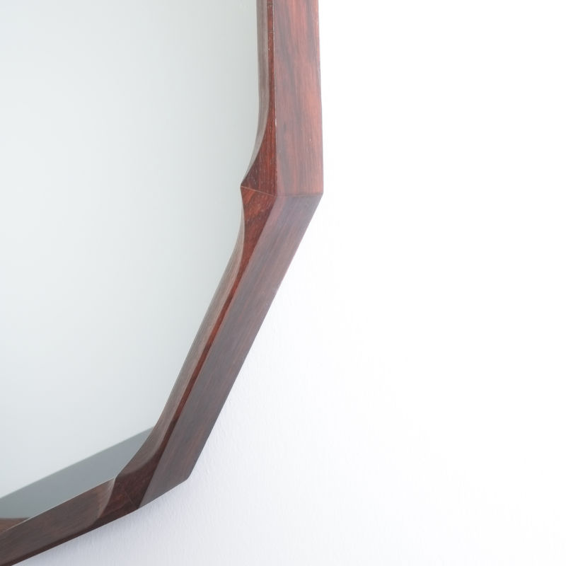 Pair Walnut Mirrors Dino Cavalli 09