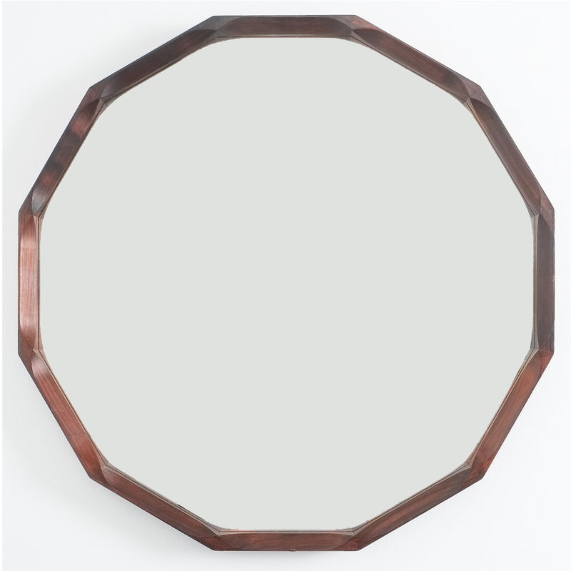 Pair Walnut Mirrors Dino Cavalli 13