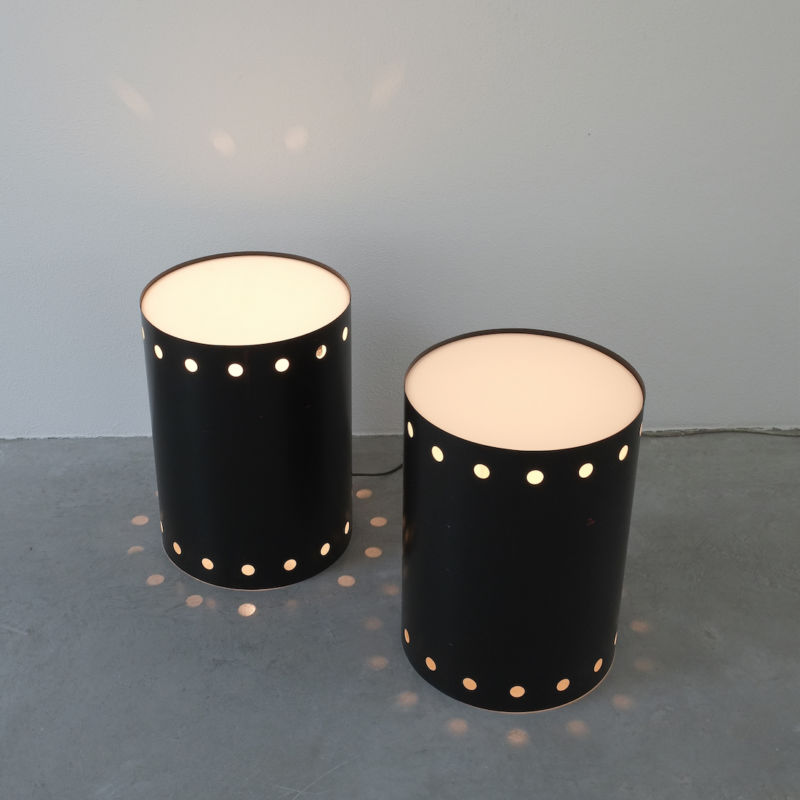 Rare Pair Staff Light Side Tables 02