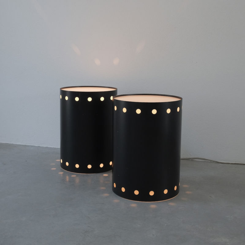 Rare Pair Staff Light Side Tables 03