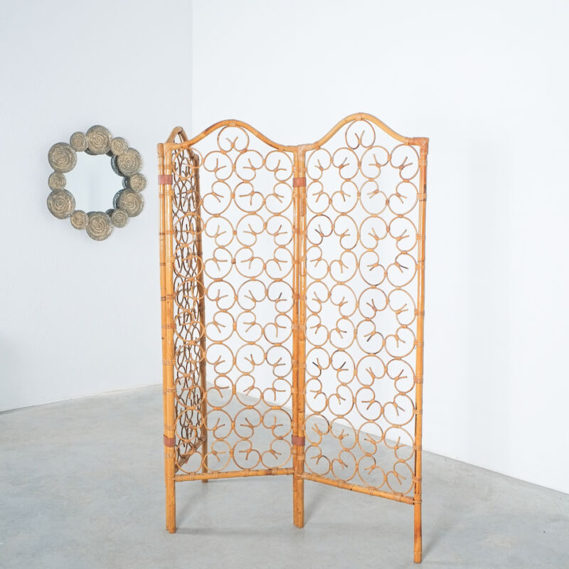 Rattan Screen Room Divider 1970 04