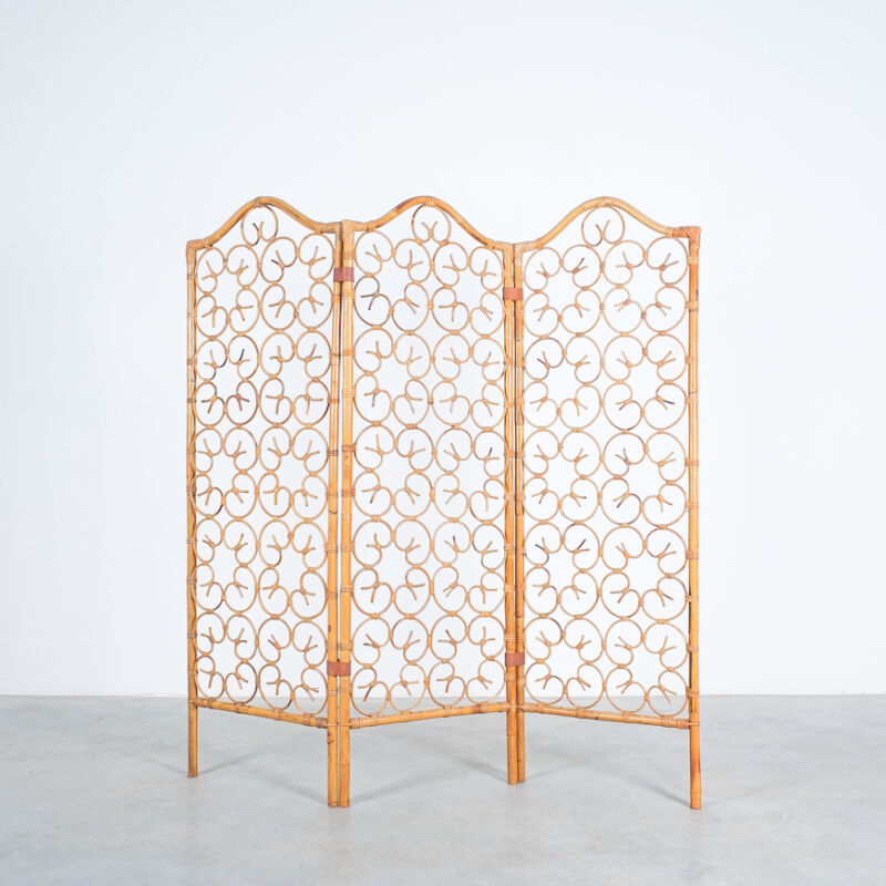 Rattan Screen Room Divider 1970 09