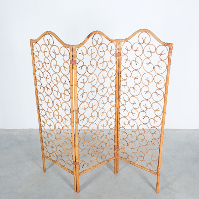 Rattan Screen Room Divider 1970 11