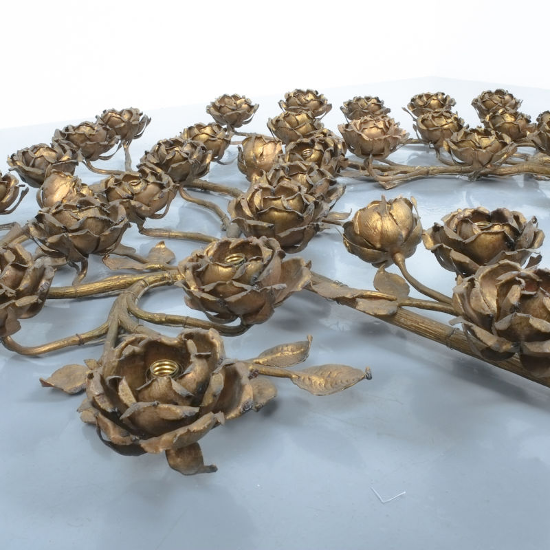 Rose Bush Brass Iron Wall Lamps 04