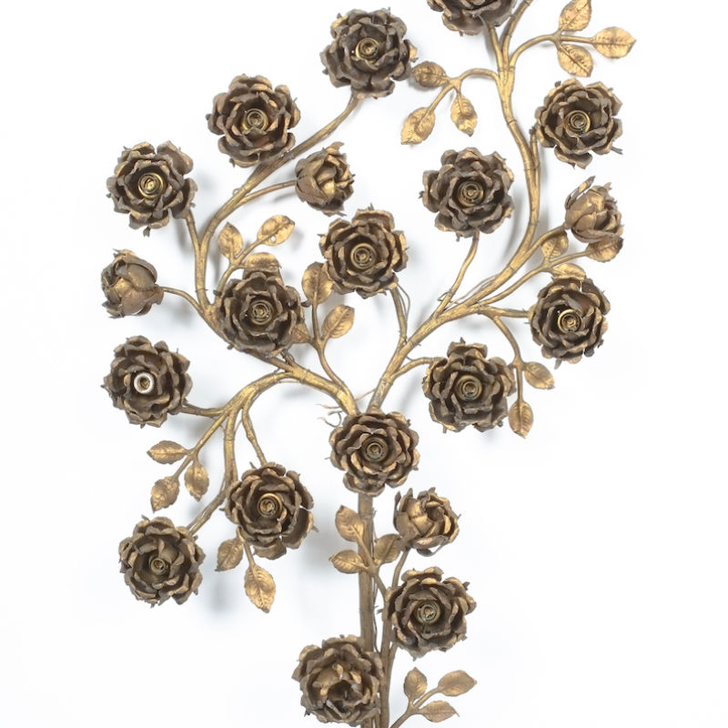 Rose Bush Brass Iron Wall Lamps 06