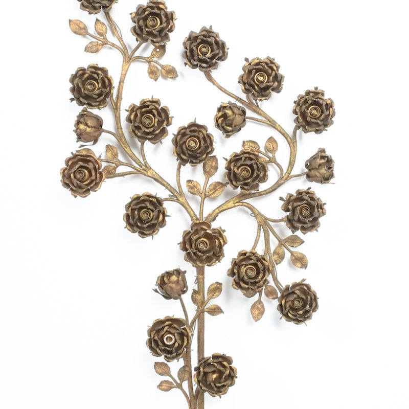 Rose Bush Brass Iron Wall Lamps 08