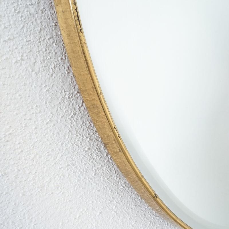 Round Brass Mirror Italy 1950 04