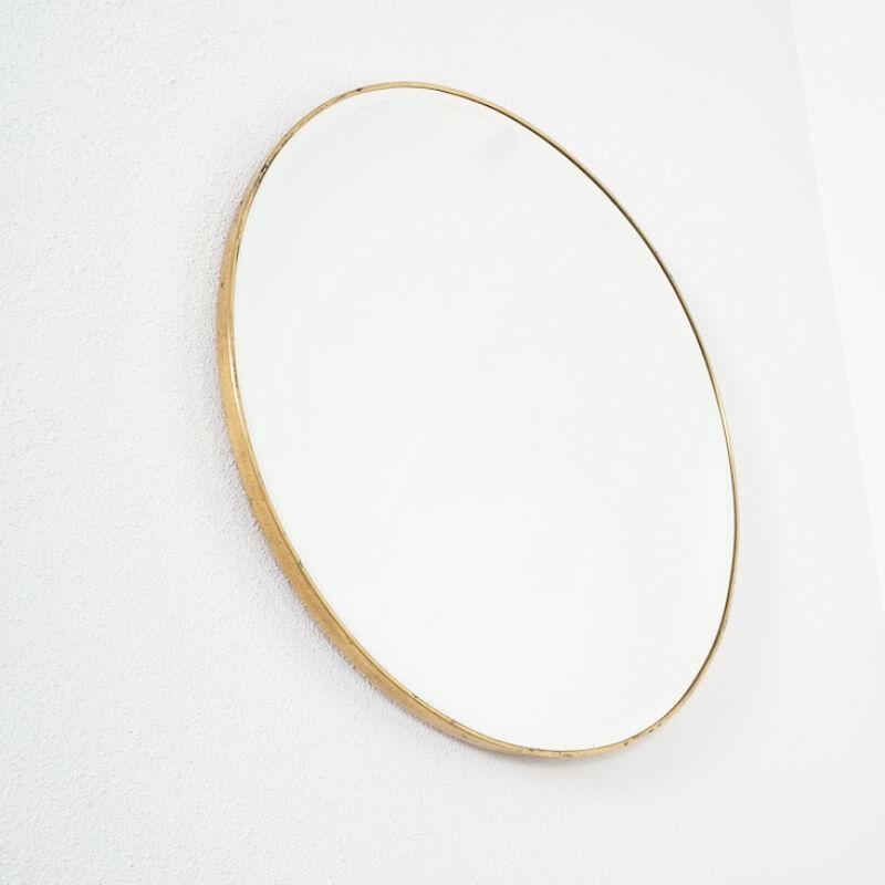 Round Brass Mirror Italy 1950 05