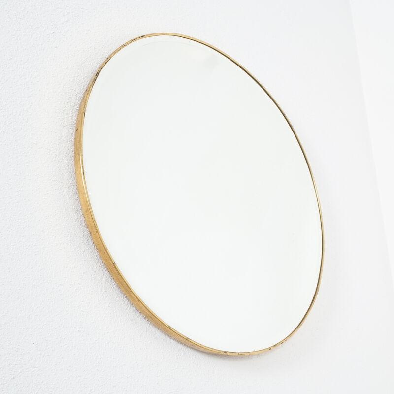 Round Brass Mirror Italy 1950 06