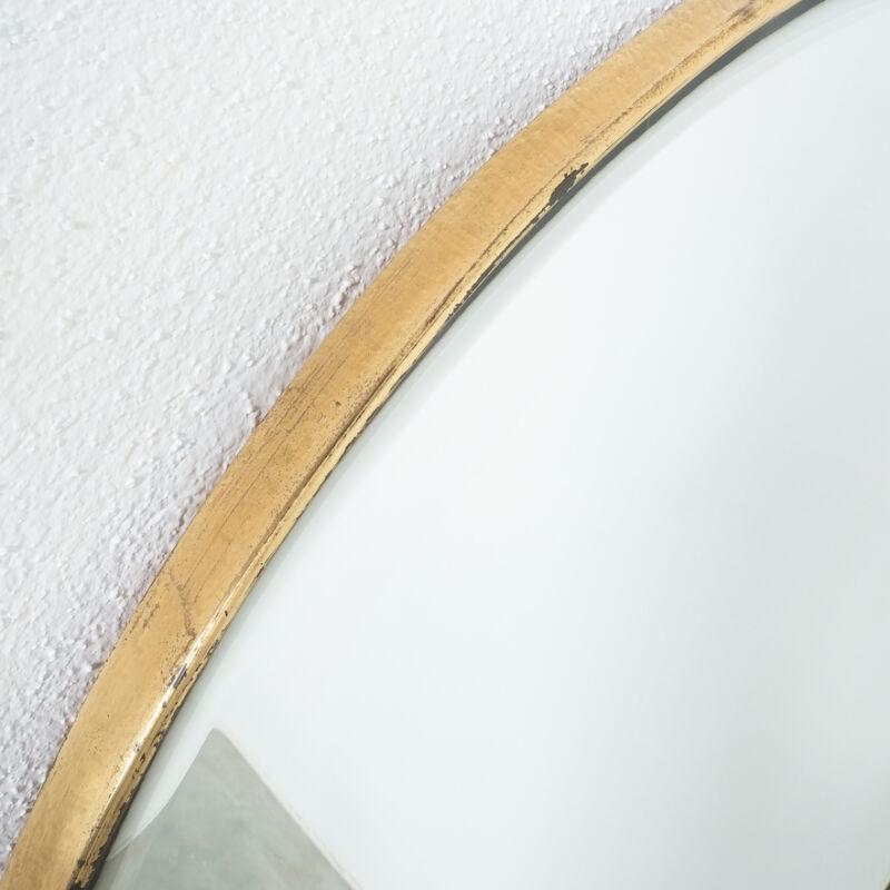 Round Brass Mirror Italy 1950 08