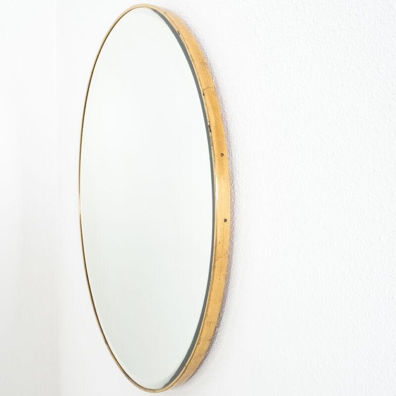 Round Brass Mirror Italy 1950 09