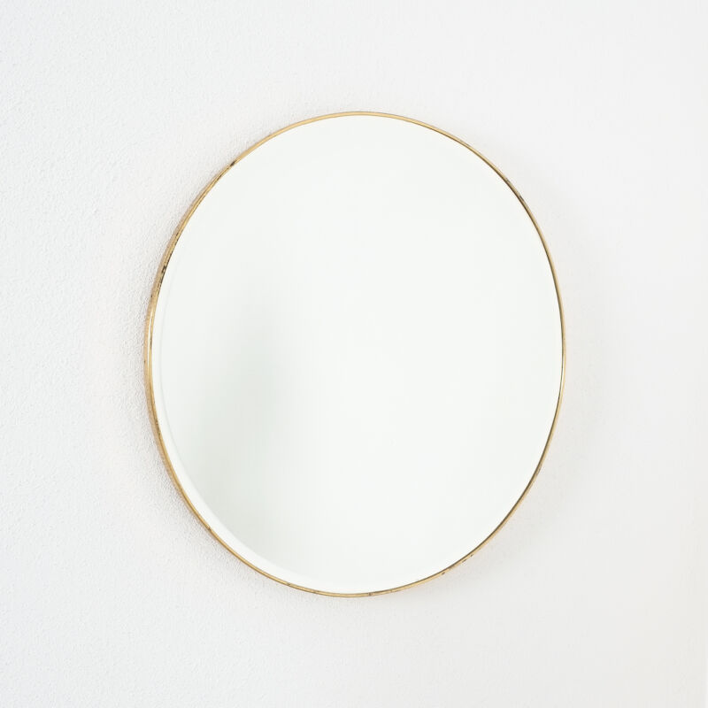 Round Brass Mirror Italy 1950 10
